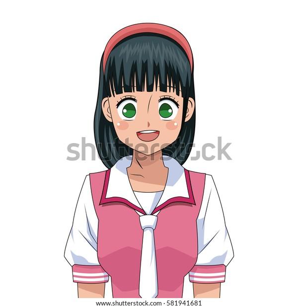 anime girl japanese character