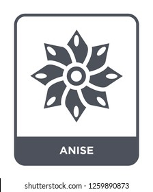 anise icon vector on white background, anise trendy filled icons from India and holi collection, anise simple element illustration