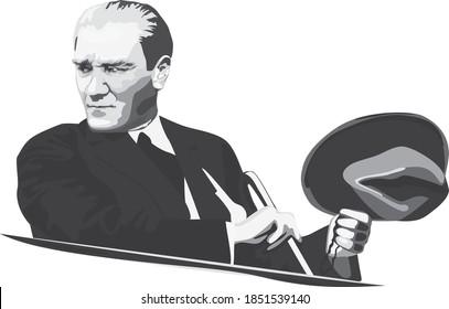 Ankara / Turkey - 1923 -Mustafa Kemal Ataturk - first turkish president, leader of turkish people.