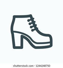 Ankle boots icon, heel ankle boots vector icon