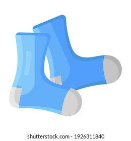 Anklet covering, socks flat icon design