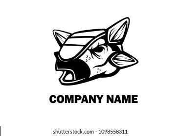ankylosaurus head awesome logo