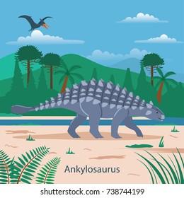 Ankylosaurus. Prehistoric animal
