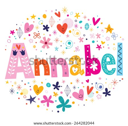 Annabel girl name decorative