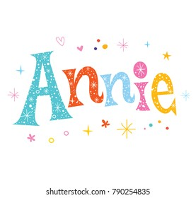 Annie - girls given name decorative lettering type design