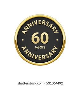 Anniversary 60 years badge