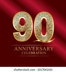 anniversary, aniversary, ninety years anniversary celebration logotype. 90 anniversary logo