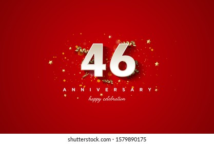 anniversary background with 46th numbers in white. design suitable for birthday and celebration parties.