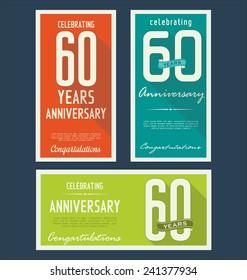 Anniversary background, 60 years