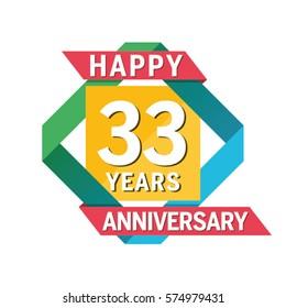 Anniversary Banner Celebration 33 Years