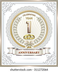 Anniversary card 1 year