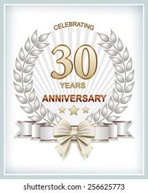 Anniversary card 30 years