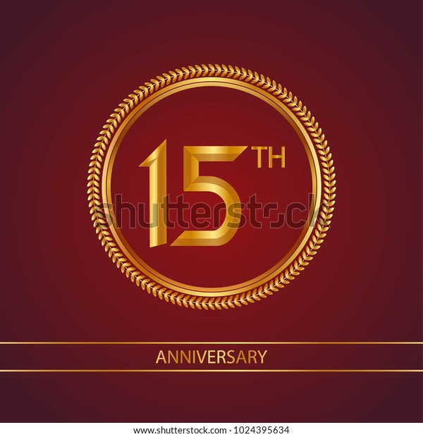 Anniversary Card Template   Anniversary Card Design Template Red Golden Stock Vector