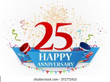 anniversary celebration background with confetti