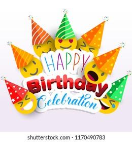 Anniversary celebration card , birthday card vector .