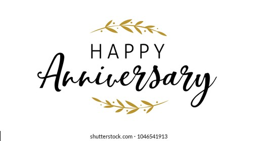 Anniversary celebration design, Lettering and typography fine art