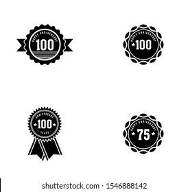 anniversary emblem logo design inspiration