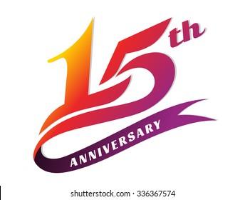 Anniversary emblems 15 anniversary template design