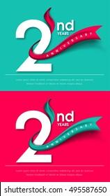 Anniversary emblems 2 anniversary template design