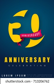 Anniversary emblems 30 anniversary template design. Creative design for your greetings card, flyers, invitation, posters, brochure, banners, calendar