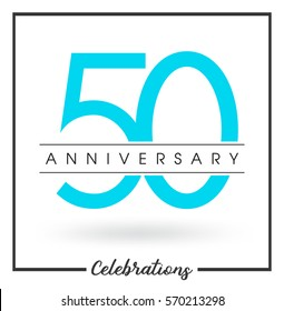 Anniversary emblems 50 anniversary template design