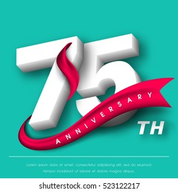 Anniversary emblems 75 anniversary template design