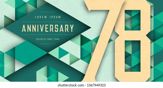 78th Birthday Images Stock Photos Vectors