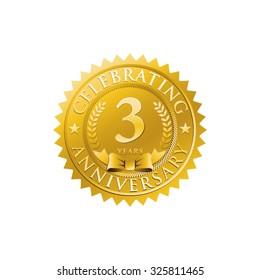 anniversary golden badge logo 3