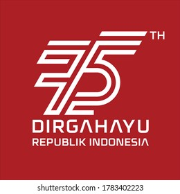 anniversary logo republic indonesia independence 260nw 1783402223