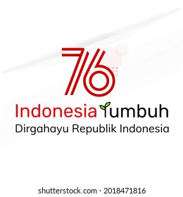 Anniversary Logo of Republic of Indonesia Independence, 76th Indonesia independence day, dirgahayu republik indonesia translation happy independence day republic of indonesia