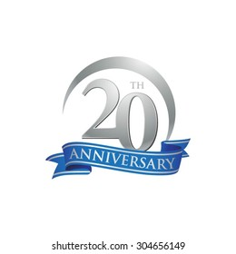 anniversary ring logo blue ribbon 20