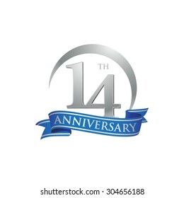 anniversary ring logo blue ribbon 14