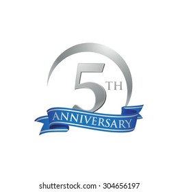 anniversary ring logo blue ribbon 5