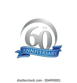 anniversary ring logo blue ribbon 60