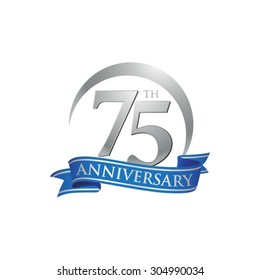 anniversary ring logo blue ribbon 75