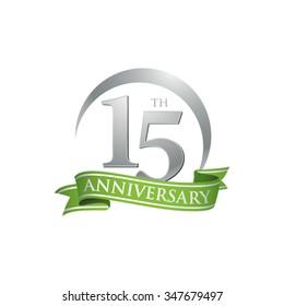 anniversary ring logo green ribbon 15