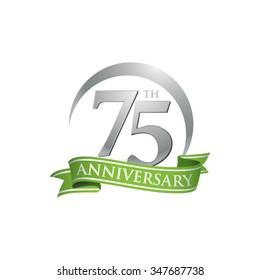 anniversary ring logo green ribbon 75