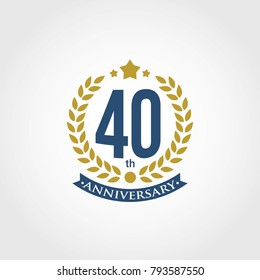 Anniversary sign collection, Set of Anniversary Badges 1st, 2nd, 3rd, 4th, 5th, 10th, 25th, 50th Years Celebration.