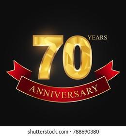 anniversary,aniversary, seventy years,70 years anniversary celebration logotype.