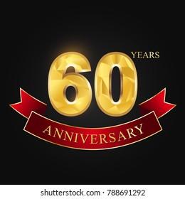 anniversary,aniversary, sixty years,60 years anniversary celebration logotype.