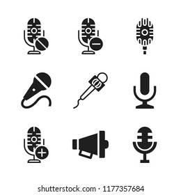 announce icon. 9 announce vector icons set. microphone, mic and megaphone icons for web and design about announce theme