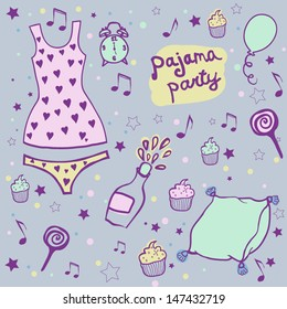 Announcement pajama party