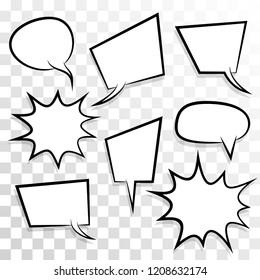 Announces Sketch Idea Conversation Sketch Explosion Stock Vector