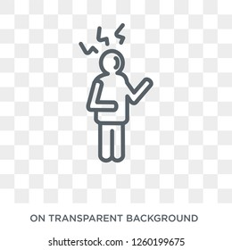 annoyed human icon. Trendy flat vector annoyed human icon on transparent background from Feelings collection. High quality filled annoyed human symbol use for web and mobile