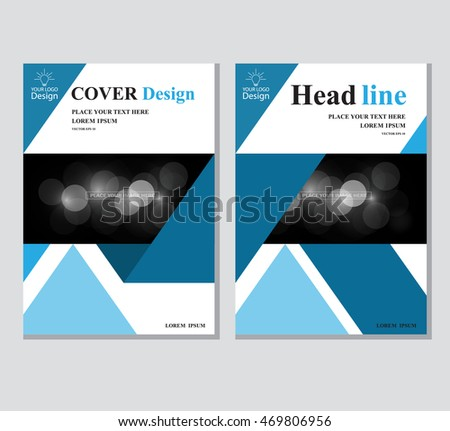 annual business report cover template booklet stock vector royalty