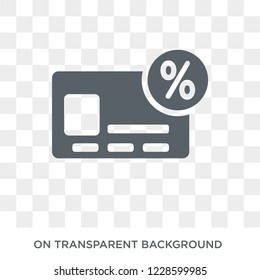 Annual percentage rate (APR) icon. Annual percentage rate (APR) design concept from Annual percentage rate (APR) collection. Simple element vector illustration on transparent background.