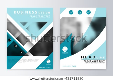 annual report brochure business plan flyer stock vector royalty
