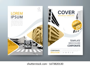 Annual report brochure flyer design, Leaflet presentation, book cover templates.
