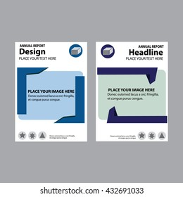 Annual report brochure flyer design template a4 size vector, abstract background cover presentation