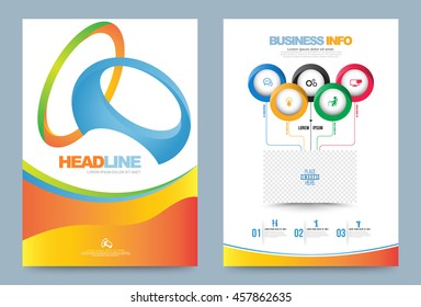 Annual report brochure flyer design template vector olympic style, Leaflet cover presentation abstract technology background, layout in A4 size. Vector illustration.